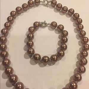 Shell Pearl Jewelry Set